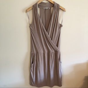 Athleta | Crosstown Dress- Taupe Size Medium
